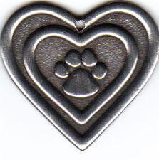 Paw and Heart Charm