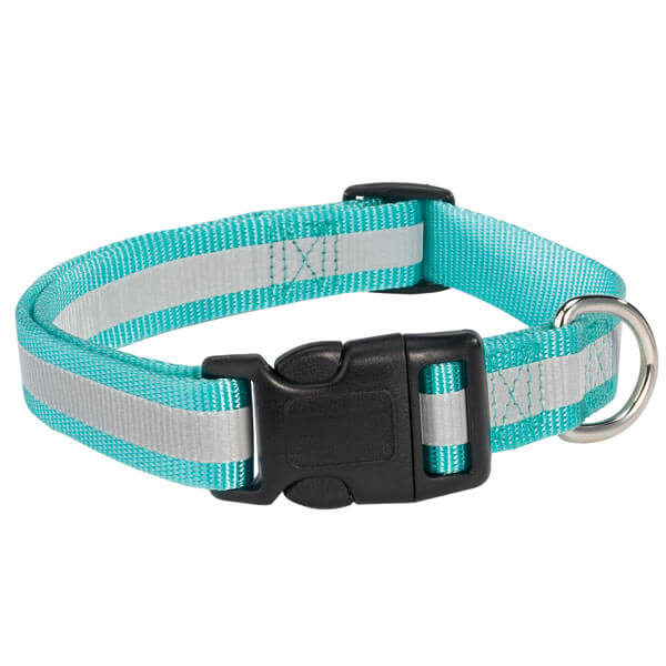 blue reflective pet collar
