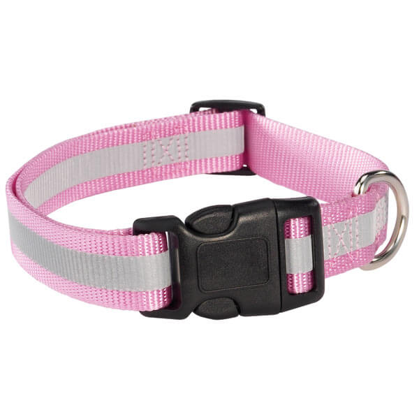 pink reflective pet collar
