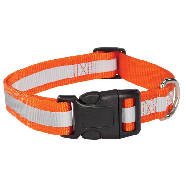 orange reflective pet collar